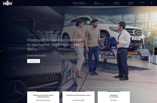 Izdelava spletne strani Vozila mercedes-benz