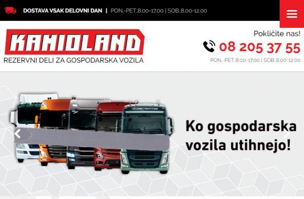 Izdelava spletne strani Kamioland