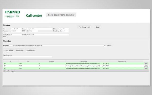 Razvoj spletne aplikacije Call Center