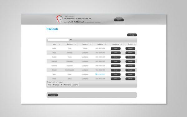 Razvoj spletne aplikacije IZVID